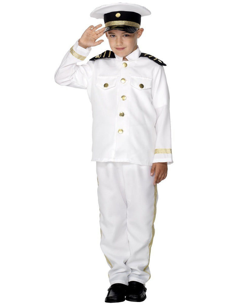 1980s Captain Officer and a Gentleman Fancy Dress Costume Navy Sailor