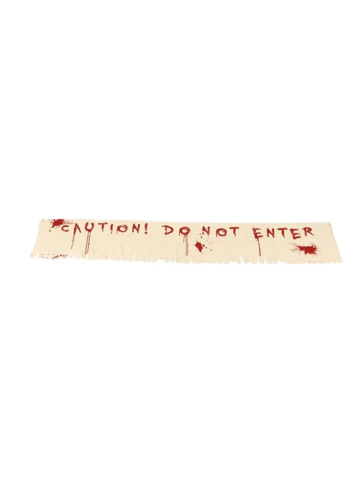 Smiffys Caution Do Not Enter Bloody Banner Decoration - 48225
