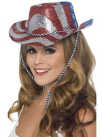 Cowboy Glitter Hat, Stars/Stripes