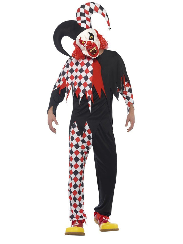 Smiffys Crazed Jester Costume - 44734