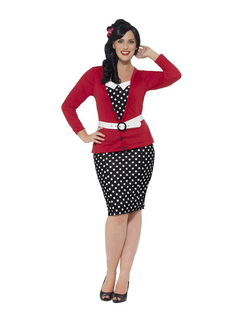 Curves 50s Pin Up Costume24455