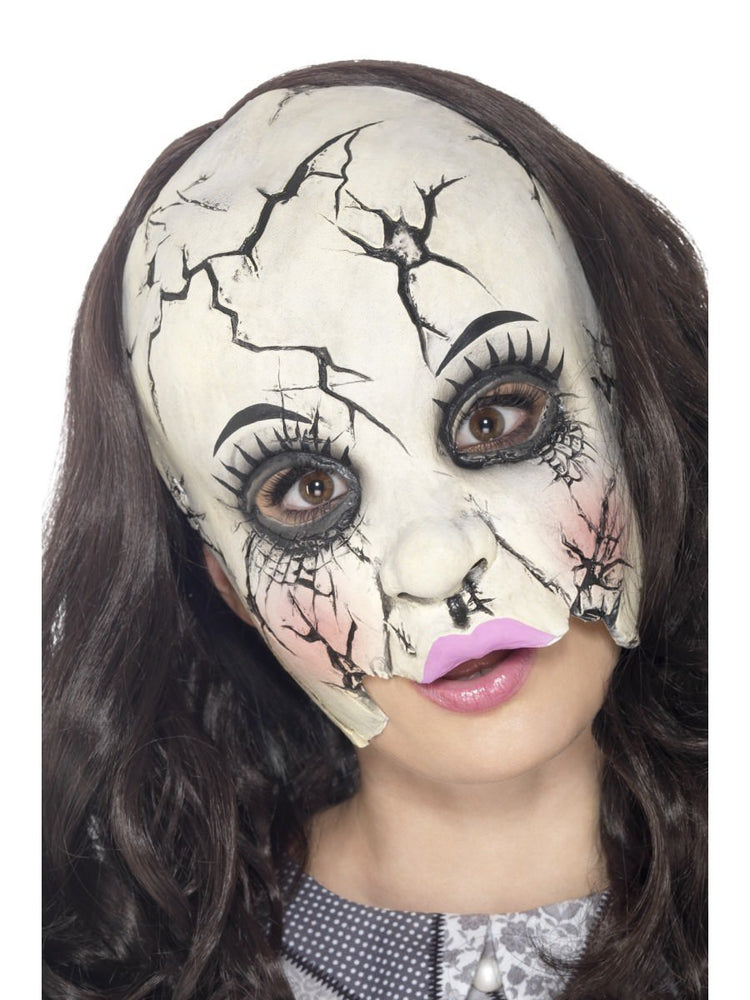 Smiffys Damaged Doll Mask - 45594