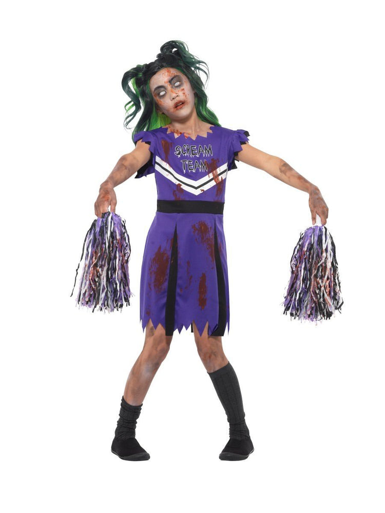 Smiffys Dark Cheerleader Child Girl's Costume - 49832