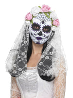 Smiffys Day of the Dead Bride Mask, Full Face - 44899