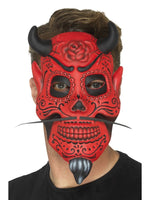 Smiffys Day of the Dead Devil Mask, Adult - 48133