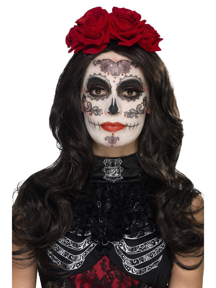 Smiffys Day of the Dead Glamour Make-Up Kit, with - 44962