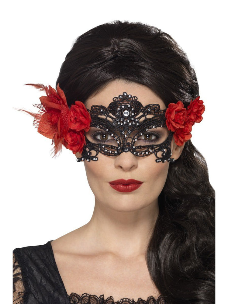 Day of the Dead Lace Filigree Eye Mask