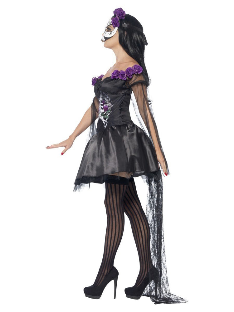 Day of the Dead Senorita Costume, with Printed Top43737