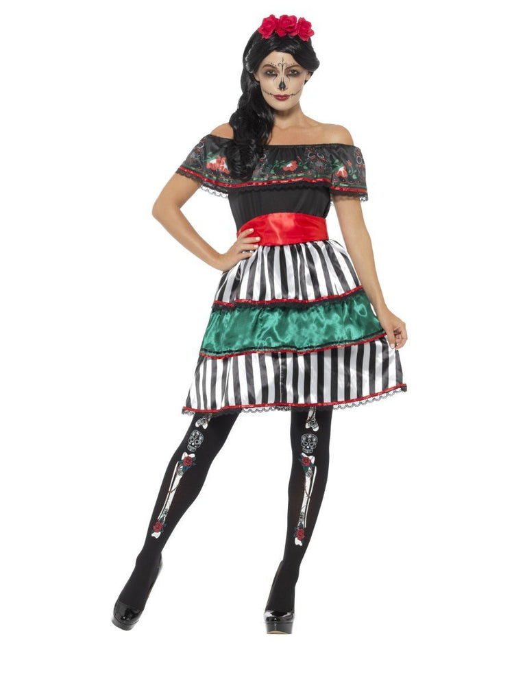 Smiffys Day of the Dead Senorita Doll Costume - 48077
