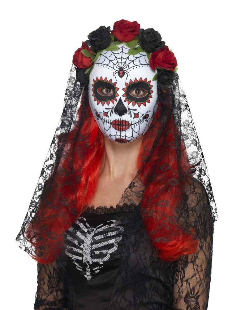 Day of the Dead Senorita Mask, Full Face