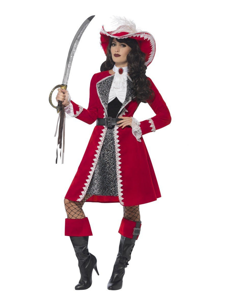 Authentic Lady Captain Deluxe Costume