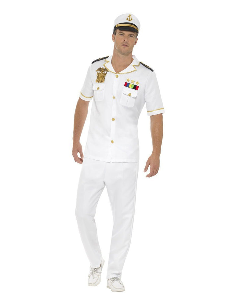 Smiffys Deluxe Captain Costume, Short Sleeve - 48062