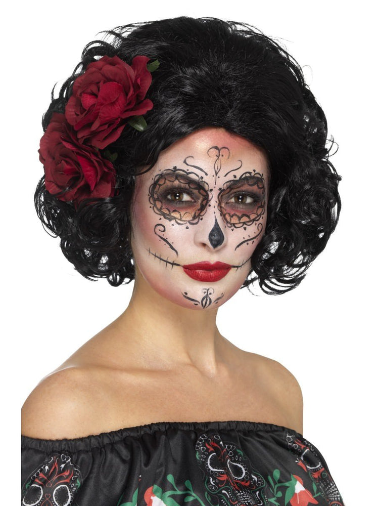 Smiffys Deluxe Day of the Dead Doll Wig - 48313