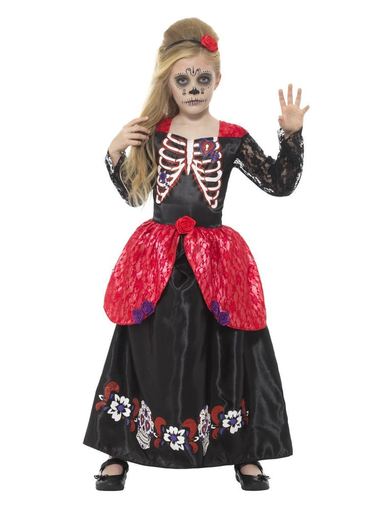 Day of the Dead Deluxe Girl Costume