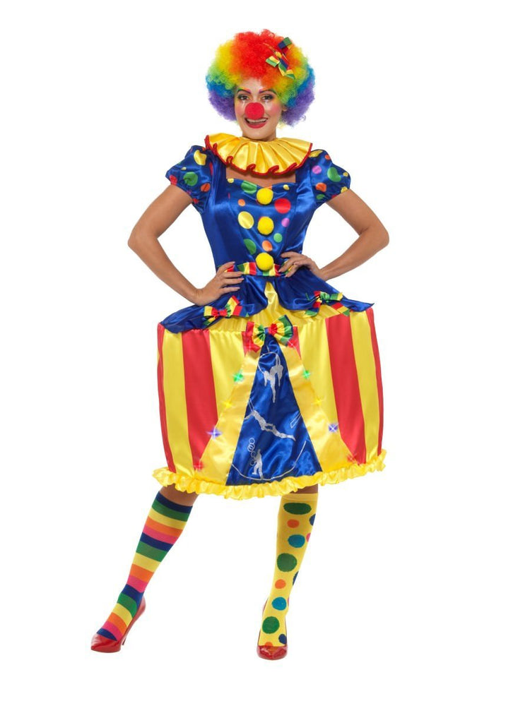 Deluxe Light Up Carousel Clown Costume - S