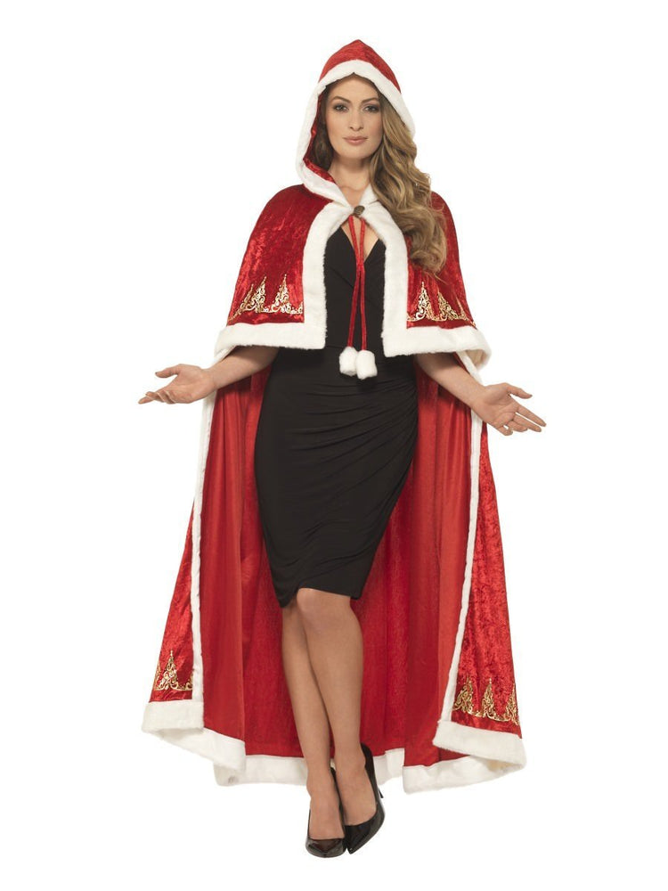 Smiffys Deluxe Miss Claus Cape - 45965