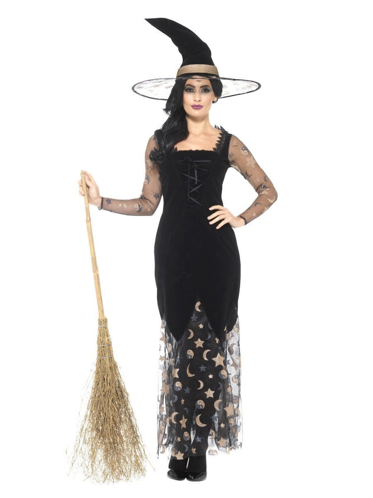 Smiffys Deluxe Moon & Stars Witch Costume - 45110