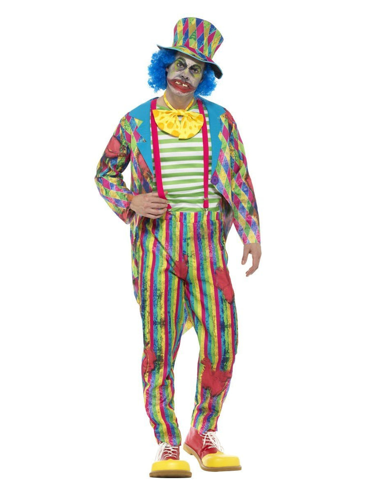 Smiffys Deluxe Patchwork Clown Costume, Male - 46872