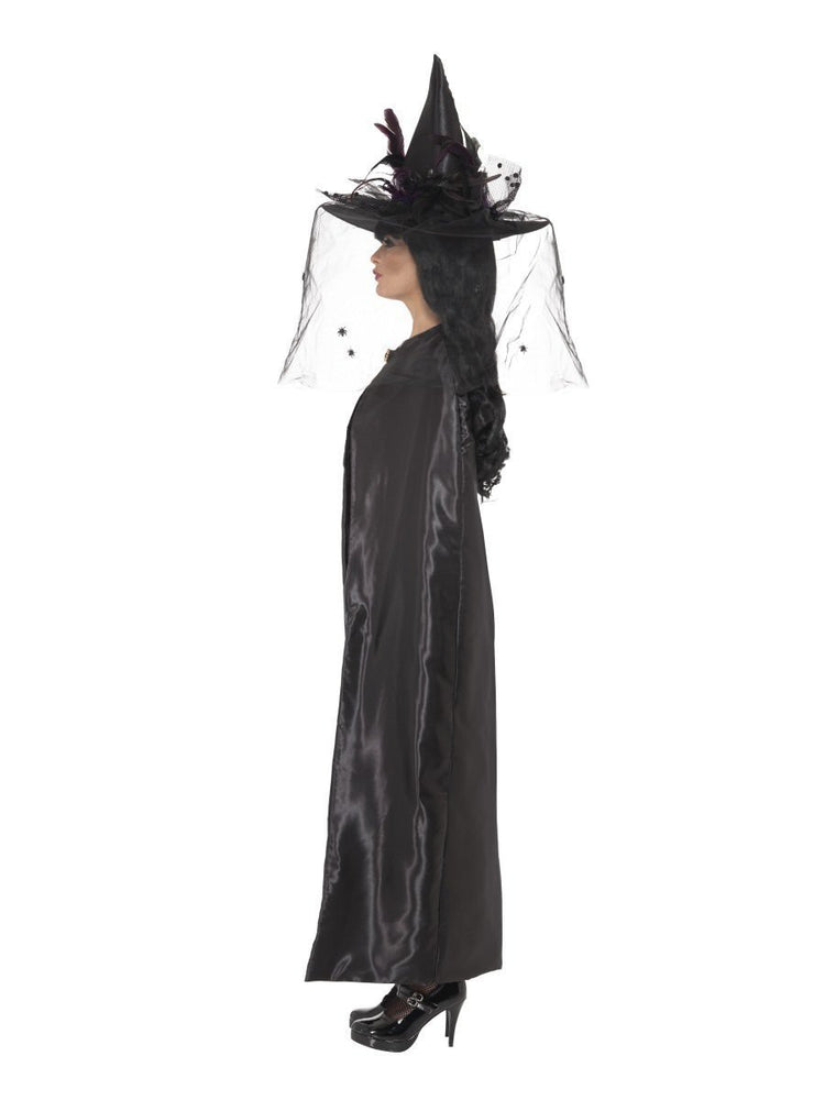 Deluxe Black Witch Cape