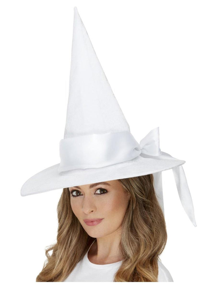 Smiffys Deluxe White Witch Hat - 52111