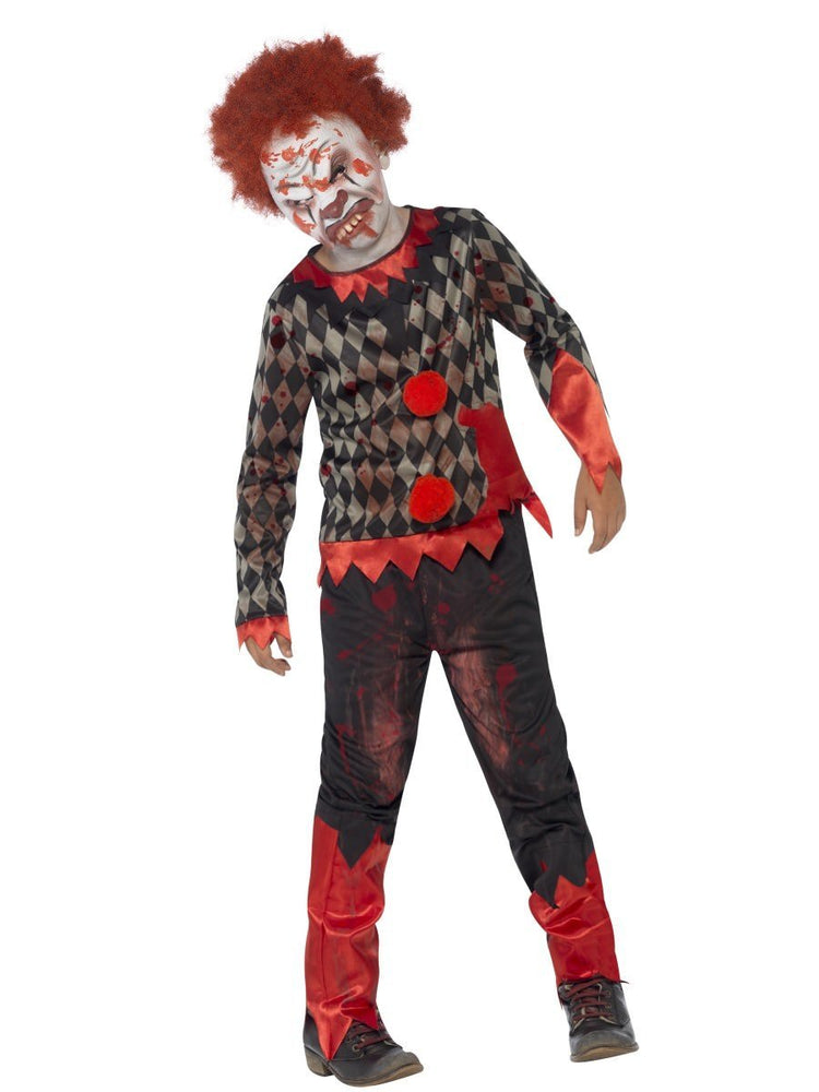 Zombie Clown Deluxe Costume, Child