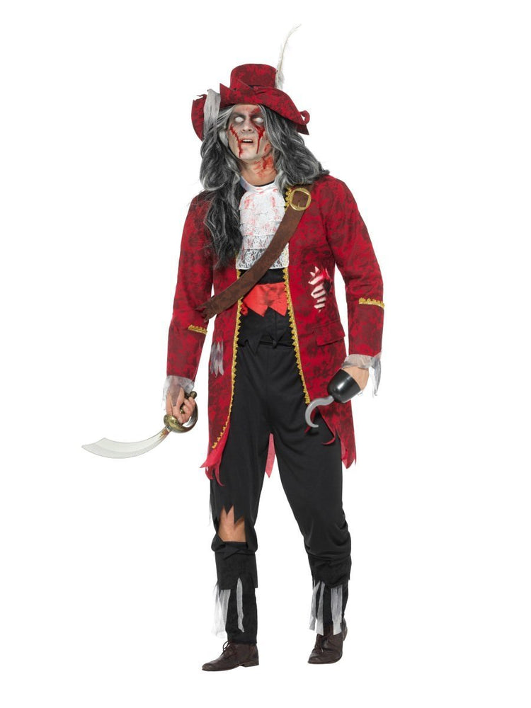 Zombie Pirate Captain Deluxe Costume