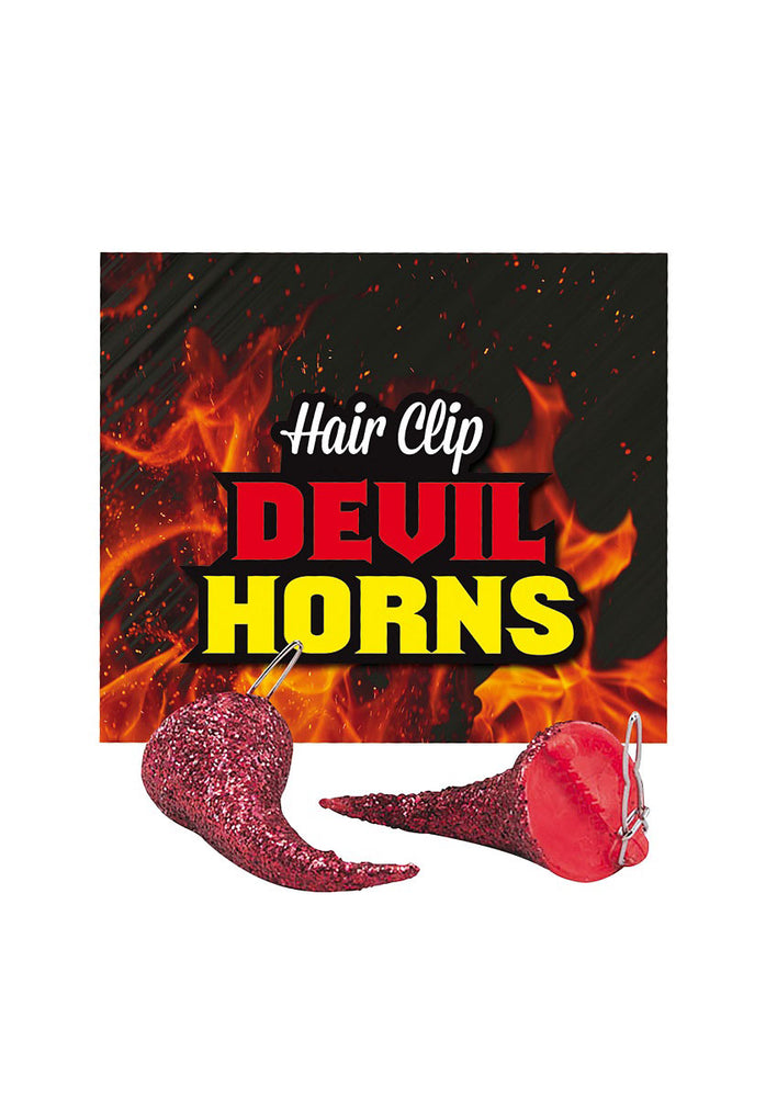 Halloween Red Devil Horns Hair Clip Fancy Dress Costume Accessory Party Novelty