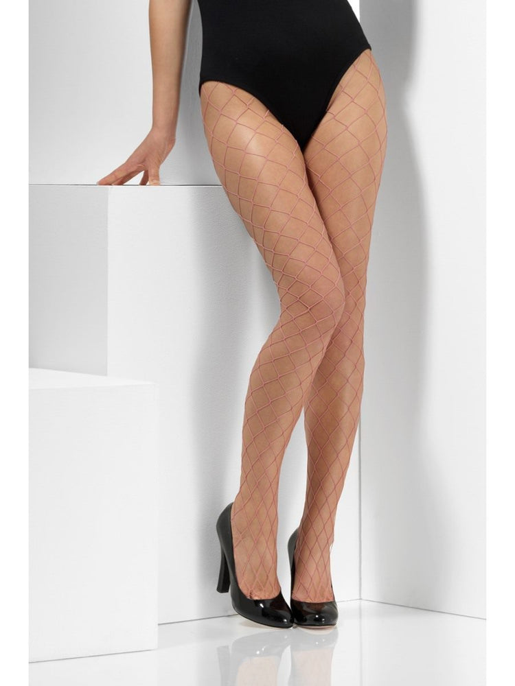 Smiffys Pink Diamond Net Tights - 48702