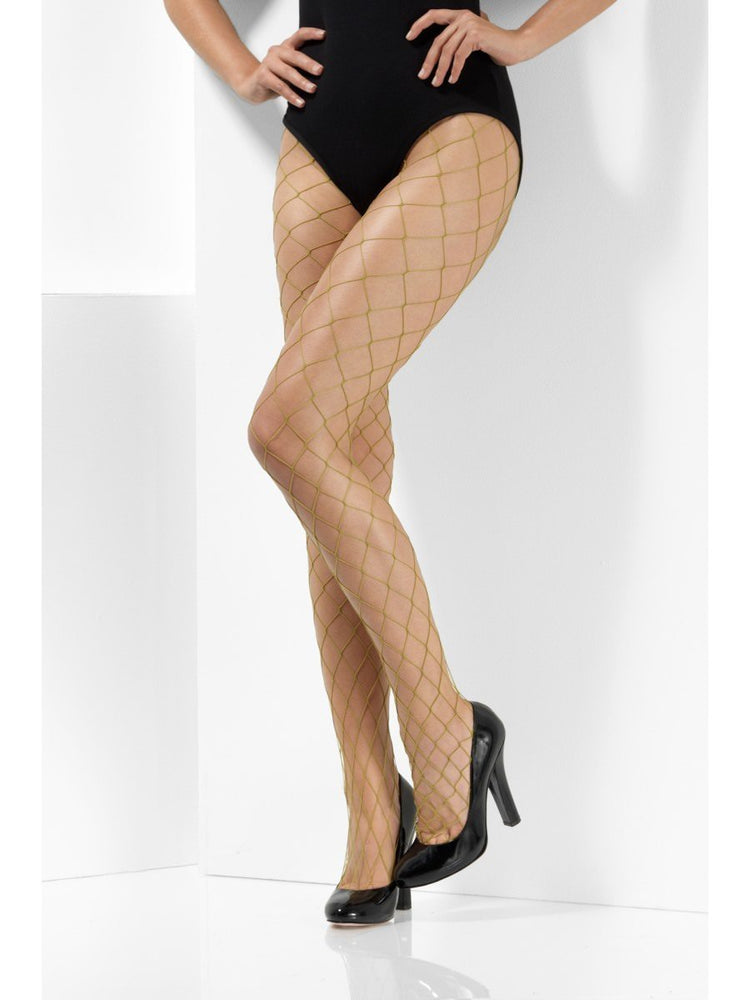 Smiffys Khaki Diamond Net Tights - 48701