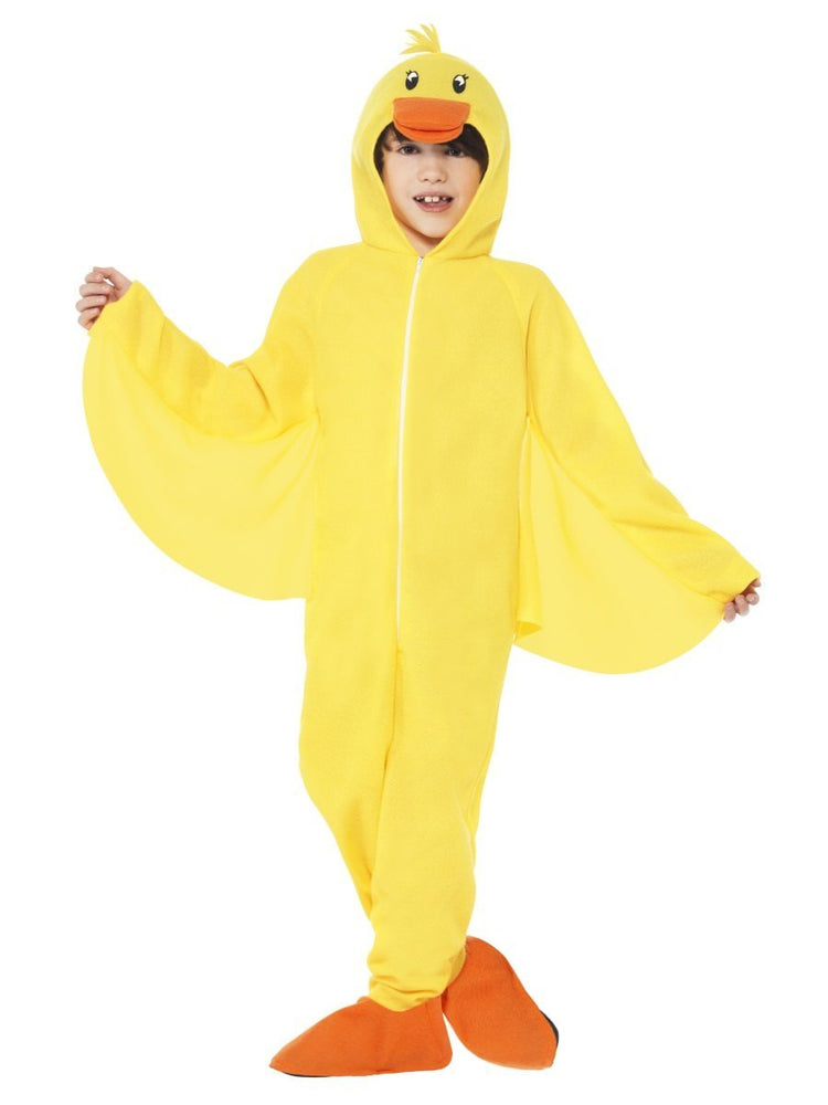 Smiffys Duck Costume, with Hooded All in One, Child - 27995