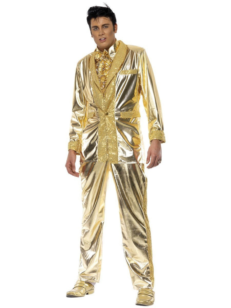 Smiffys Elvis Costume, Gold - 29394