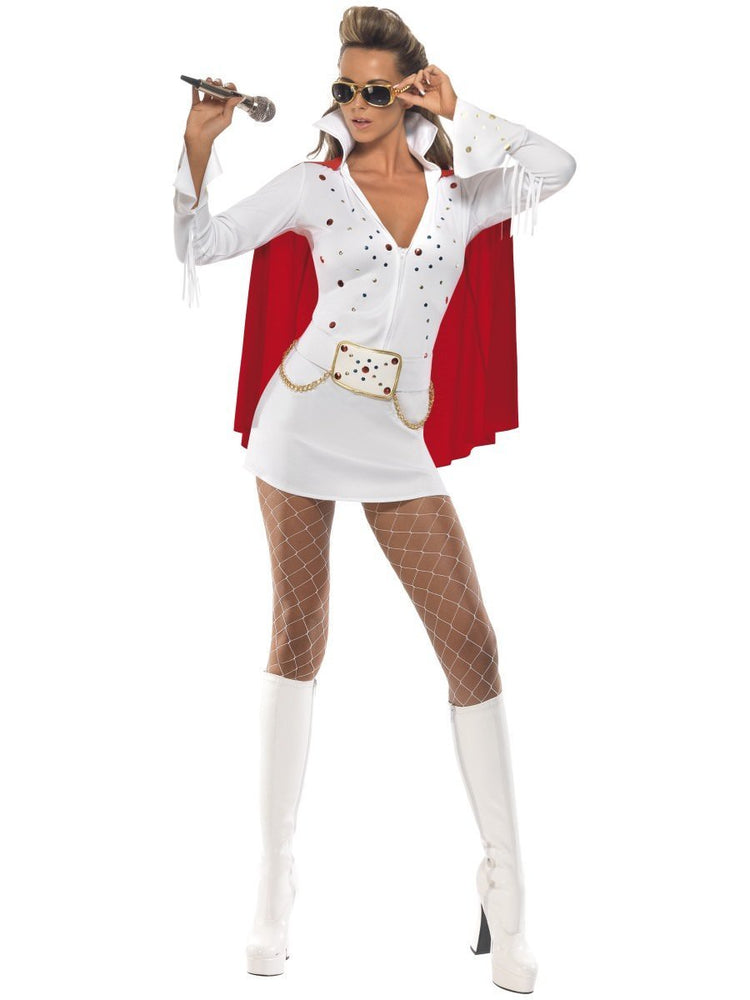 Viva Las Vegas Ladies Costume - White