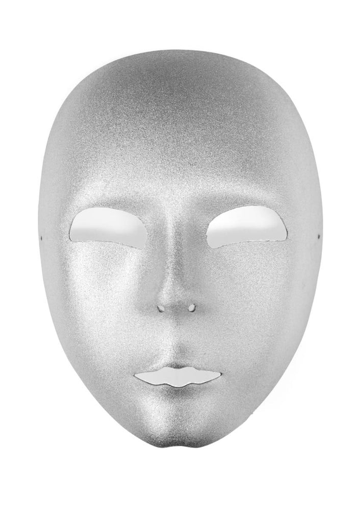 Robot Mask Adult Silver