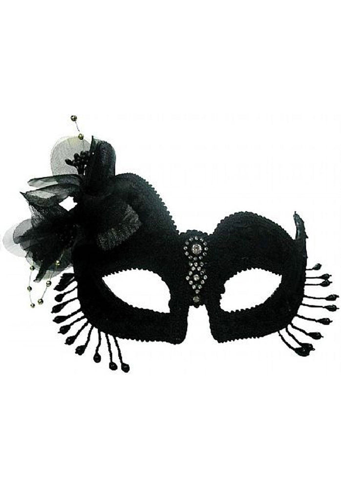 Florence Masquerade Eye Mask - Black