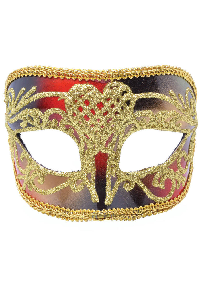 Eyemask Venetian Masquerade Red/Gold Male