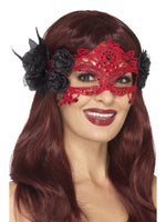 Embroidered Lace Filigree Devil Eye Mask