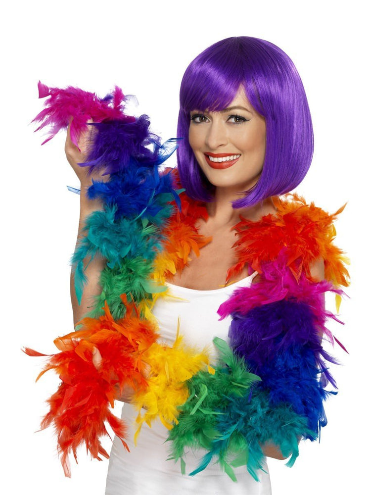 Feather Boa Rainbow colours