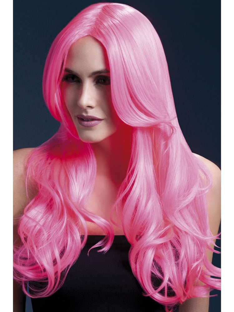 Fever Khloe Wig 26in Neon Pink