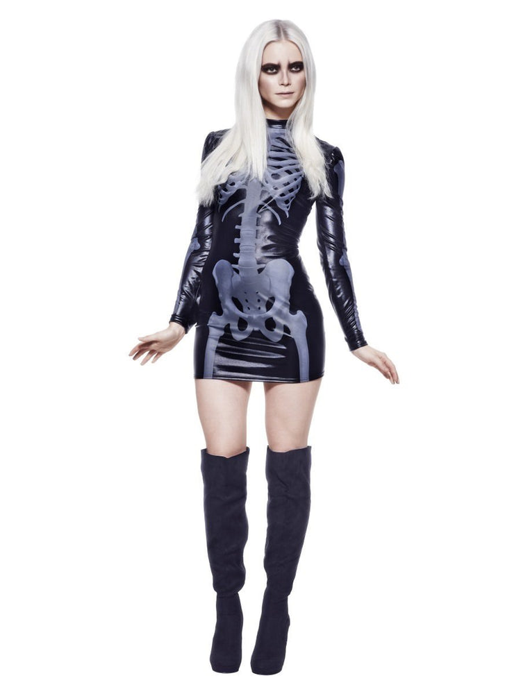 Miss Whiplash Skeleton Costume