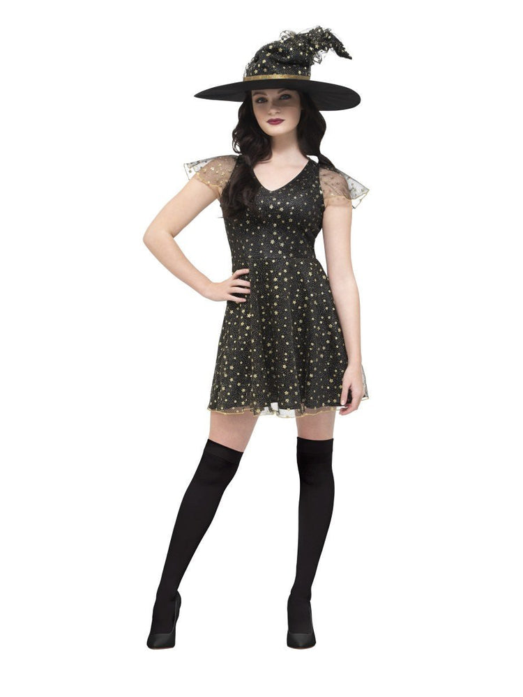 Smiffys Fever Moon & Stars Witch Costume - 45131
