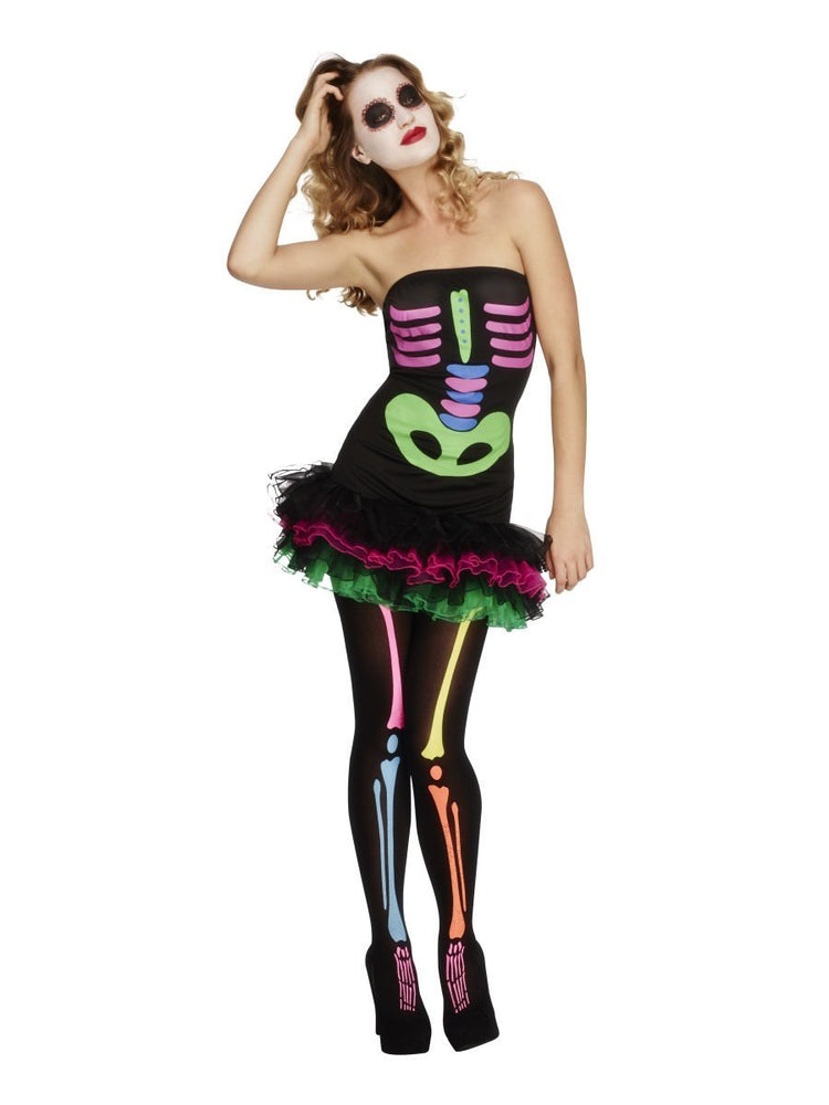 Neon Skeleton Costume, Fever Collection