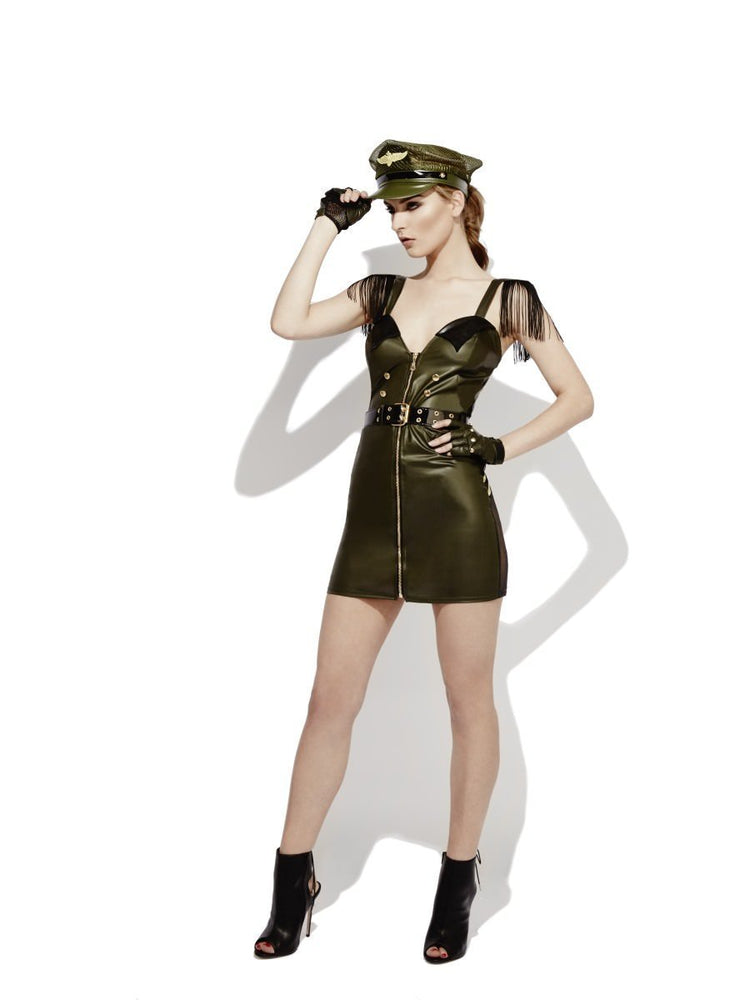 Fever Role-Play Military Chief Wet Look Costume43497