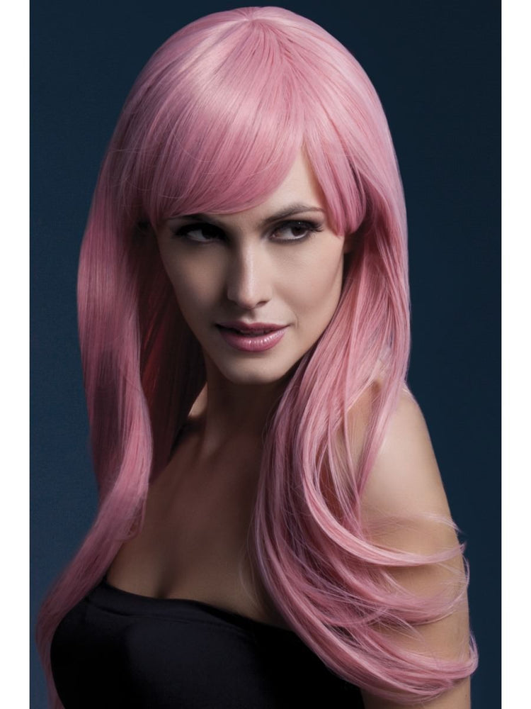 Smiffys Fever Sienna Wig, Pastel Pink - 42554