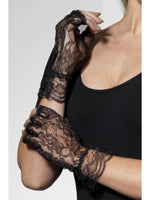 Gloves Short Blacklace Fingerless