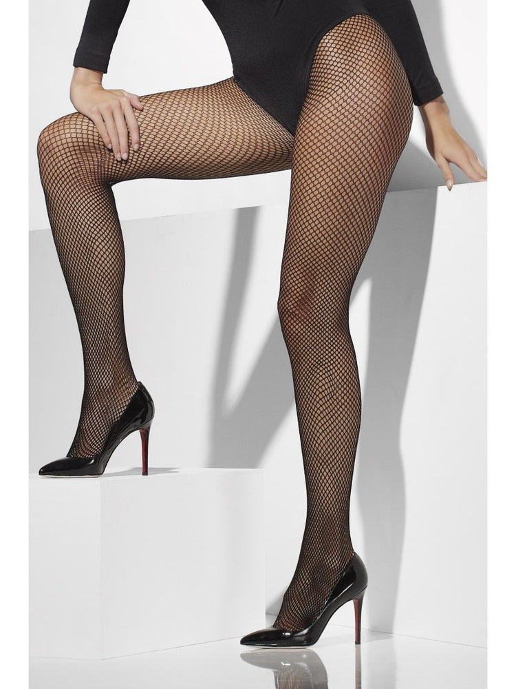 Fishnet Tights - Extra Large, Black