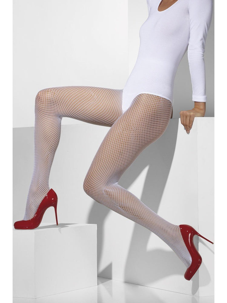 Fishnet Tights, White