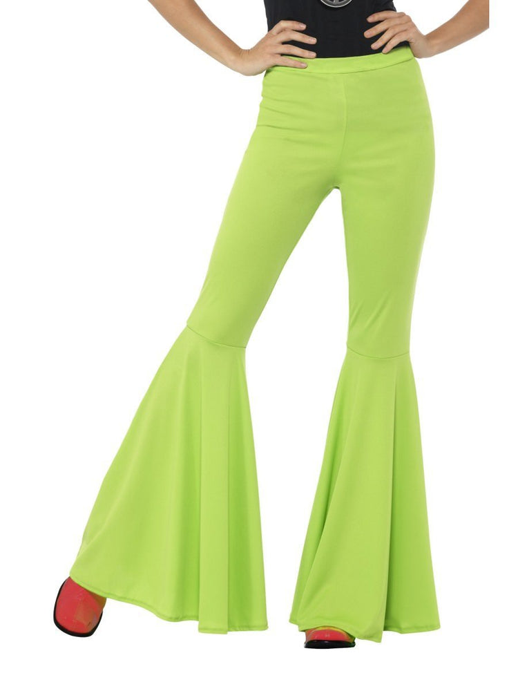 Flared Trousers, Ladies, Green21467