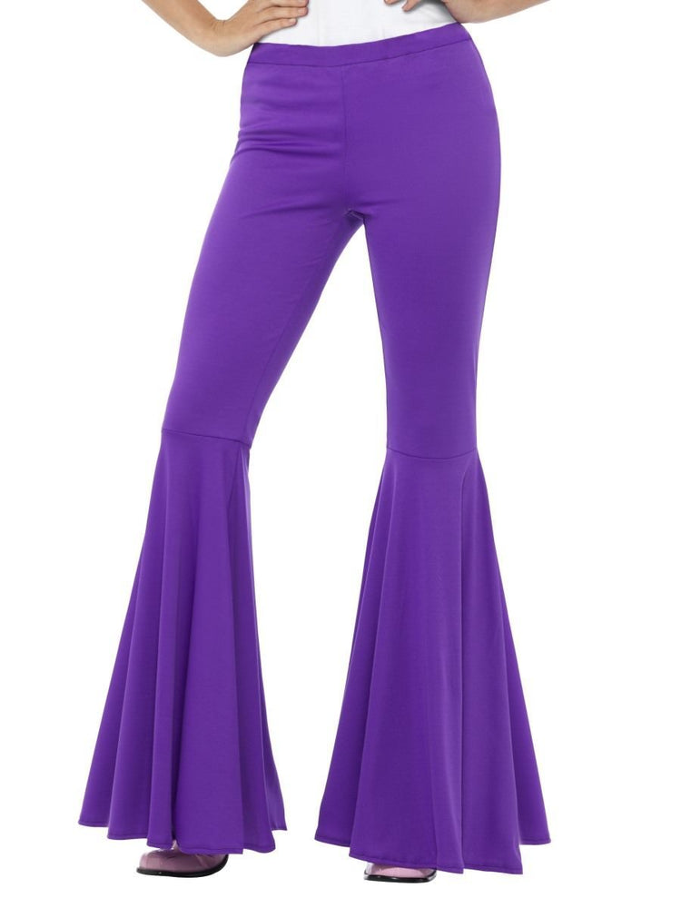 Smiffys Flared Trousers, Ladies, Purple - 43076