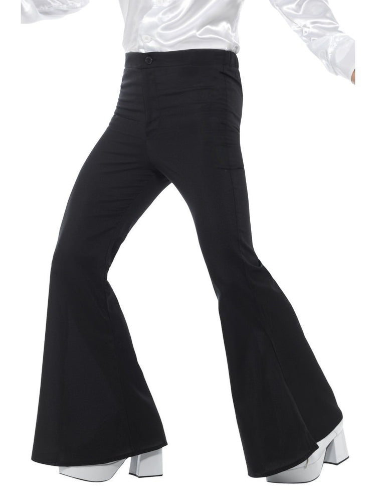 Smiffys Flared Trousers, Mens, Black - 48191