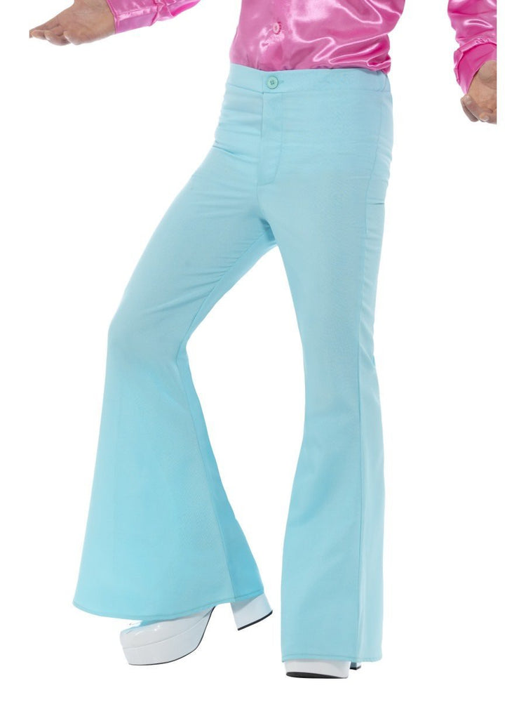 Smiffys Flared Trousers, Mens, Blue - 48193